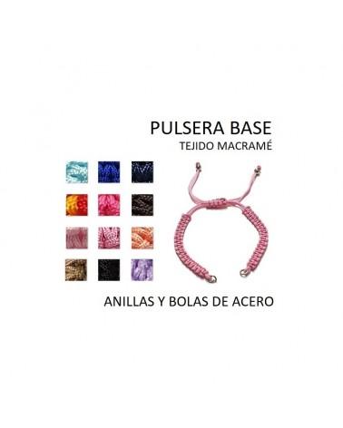 BOLA DE PORCELANA DE 16mm hueco de 2mm ROSA (1 pieza)