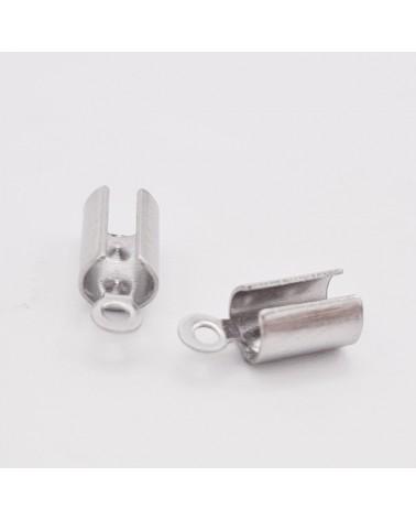 Gancho hippy plata envejecida 18X19mm (40 pcs. aprox.)