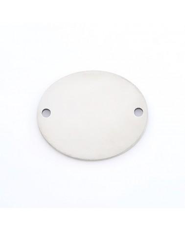Cierre de clip con hueco para cadena de bolas color bronce 2,4mm (1pc).