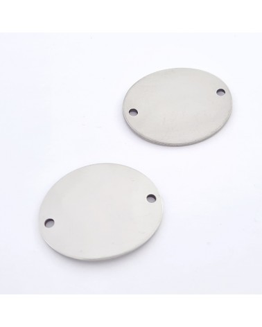 Cierre con forma de 3, para separar o engarzar, 14 mm de largo, 7 mm de ancho (1pc).