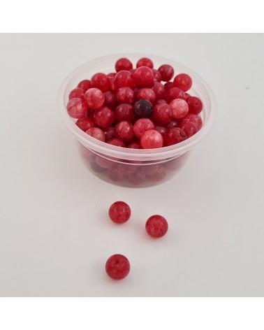 Cordón redondo elástico, color rojo, 5mm (50cm).