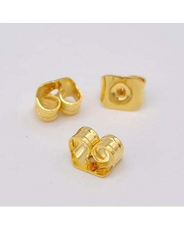 Abalorio graduación, color oro envejecido, 13x22x6,5mm, hueco 2mm (1pc).