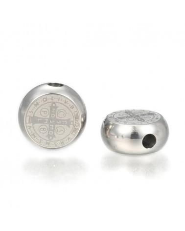 Cierre imán rectángulo bronce, medida de 13x20x6.5 mm, Hueco: 3x10mm (1pc).
