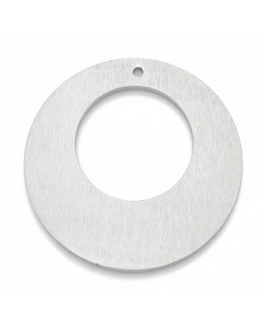 Abalorio mano de fátima, color plata, 24x20mm Hueco 2mm (1pc).
