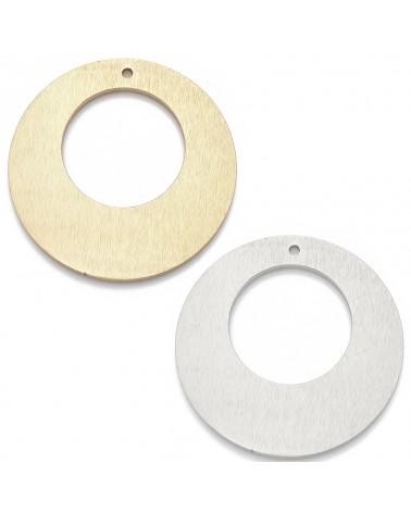 Abalorio gota, color plata, 10x3mm Hueco 1mm (1pc).