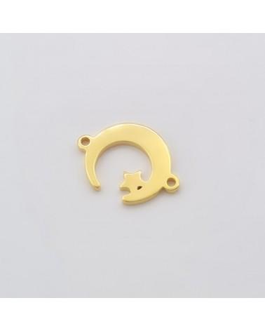 Conector con mensaje (Te quiero papá ) 38x10 mm hueco 4mm (1 PC).