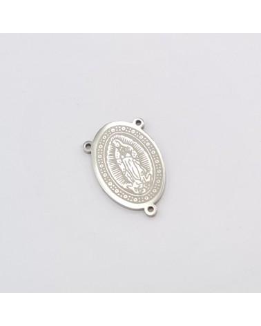 Abalorio huella, medida 13x11mm hueco 2mm (1pc).