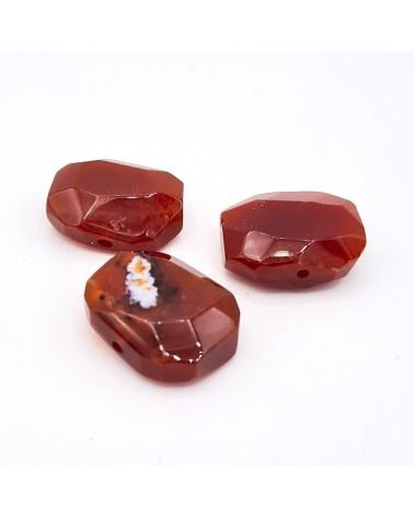 Abalorio cuadrado, con cristal engarzado multicolor, 17x23mm hueco de 2mm (1pc).